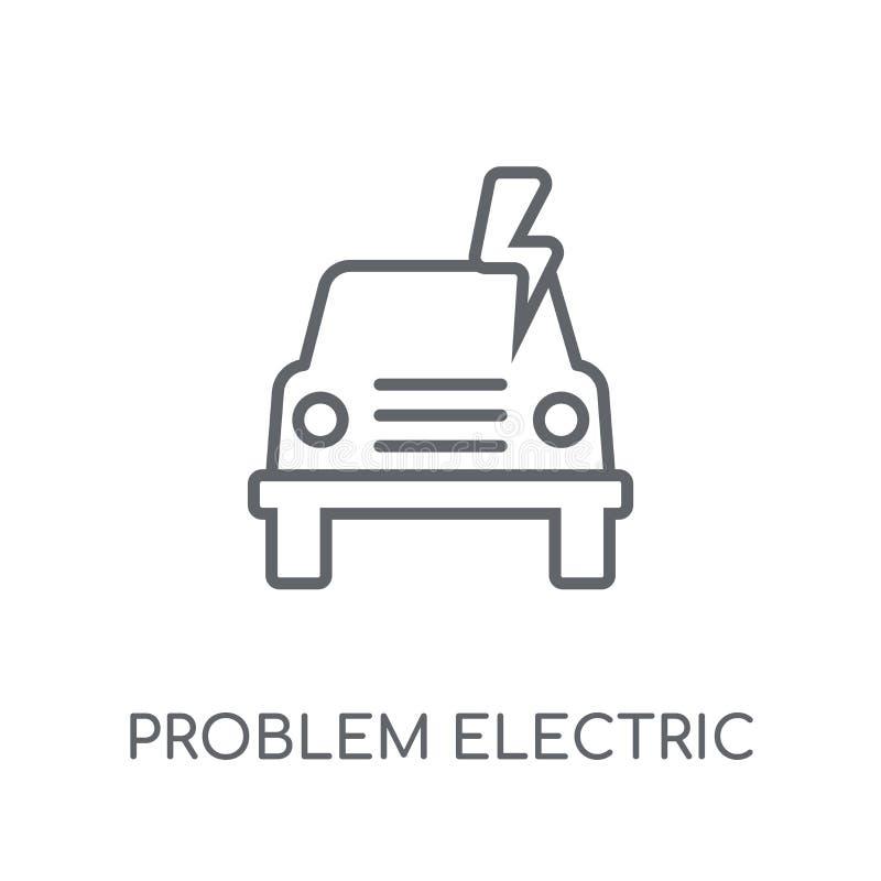 Icône linéaire électrique de problème Lo électrique de problème moderne d'ensemble illustration stock