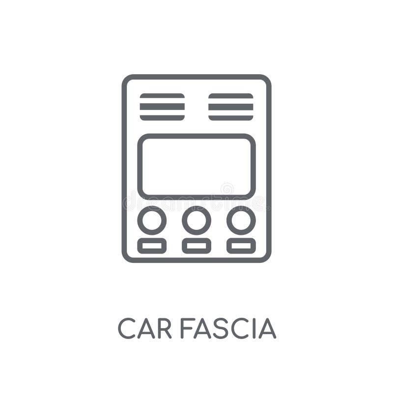 icône linéaire (britannique) de fasce de voiture Fasce moderne de voiture d'ensemble (Bri illustration libre de droits