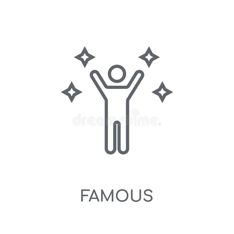 Icône linéaire célèbre Concept célèbre de logo d'ensemble moderne sur le blanc illustration de vecteur