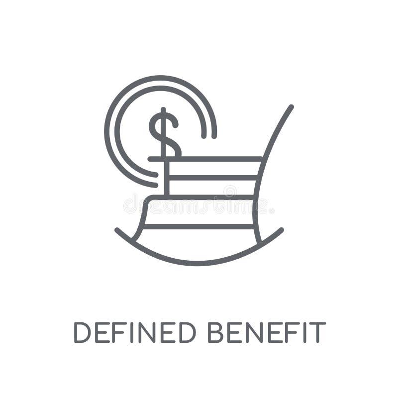 Icône linéaire définie de pension d'avantage Le contour moderne a défini le bene illustration stock