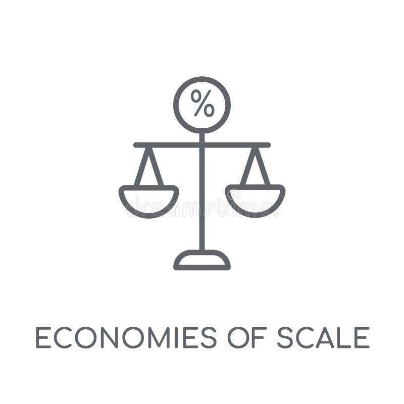 Icône linéaire d'économies d'échelle Économies modernes d'ensemble de scal illustration de vecteur
