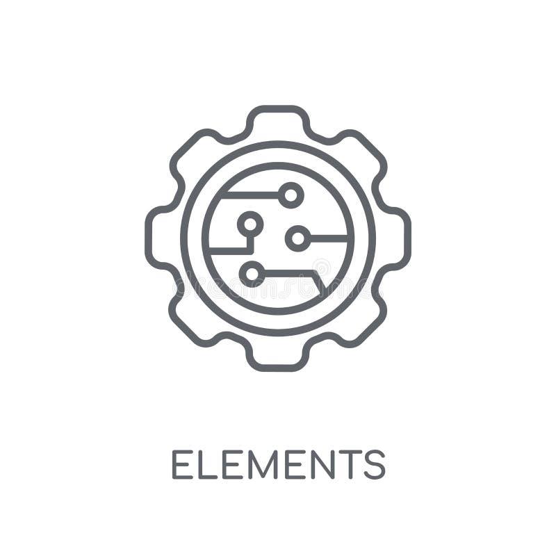 Icône linéaire d'éléments Concept moderne de logo d'éléments d'ensemble sur le wh illustration libre de droits
