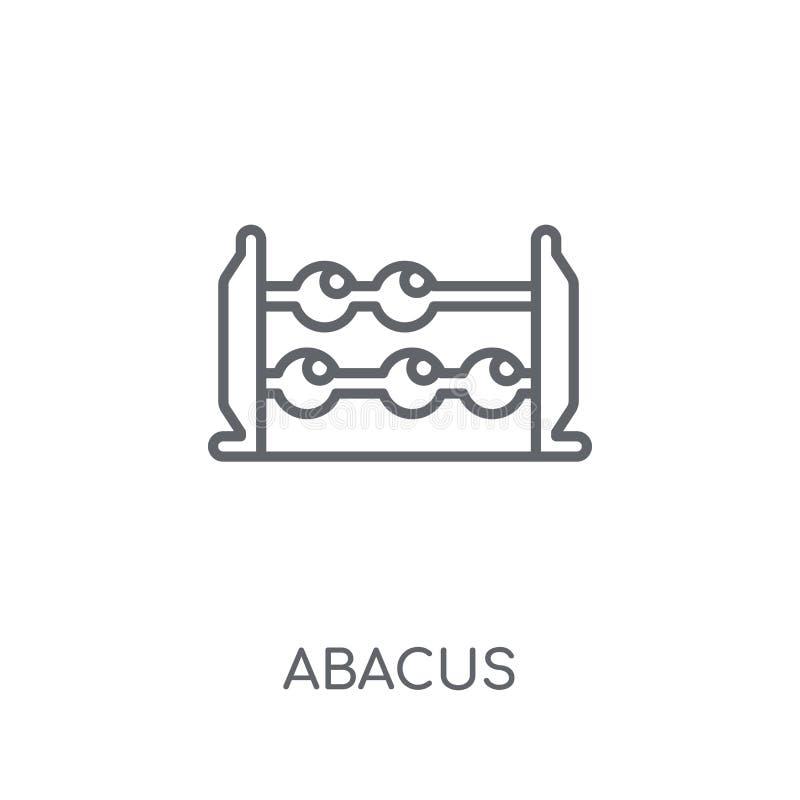 Icône linéaire d'abaque Concept moderne de logo d'abaque d'ensemble sur le blanc illustration libre de droits