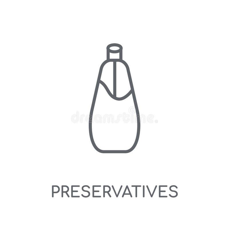 Icône linéaire d'agents de conservation Escroquerie moderne de logo d'agents de conservation d'ensemble illustration de vecteur
