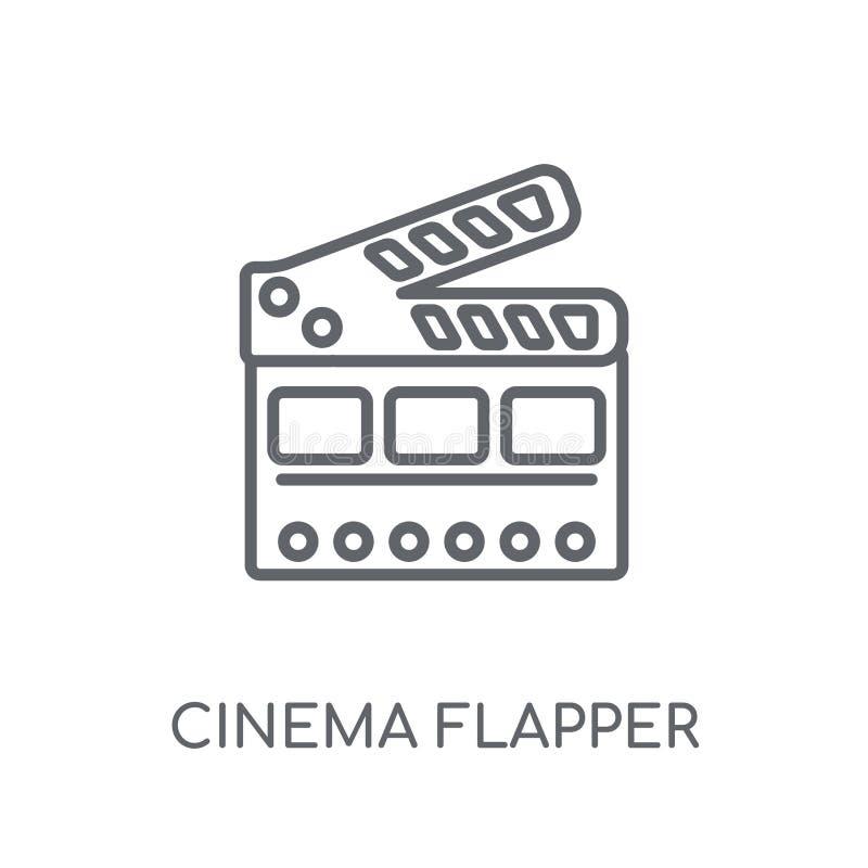 icône linéaire d'aileron de cinéma Logo moderne c d'aileron de cinéma d'ensemble illustration libre de droits