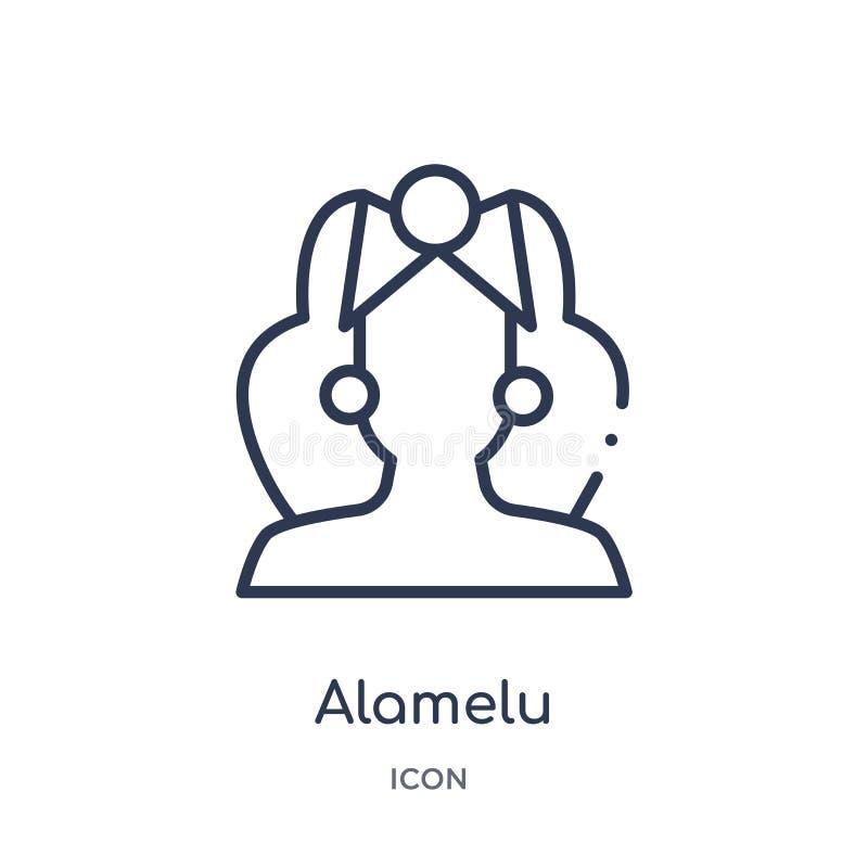 Icône linéaire d'alamelu de collection d'ensemble de l'Inde Ligne mince icône d'alamelu d'isolement sur le fond blanc alamelu à l illustration stock