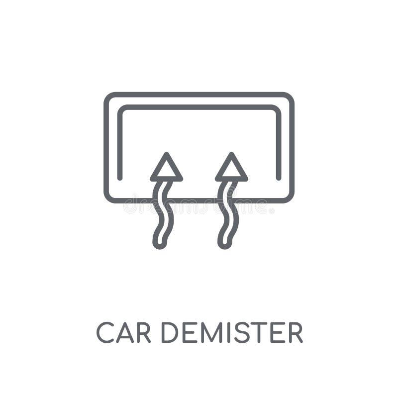 icône linéaire d'antibuée de voiture Conce moderne de logo d'antibuée de voiture d'ensemble illustration libre de droits