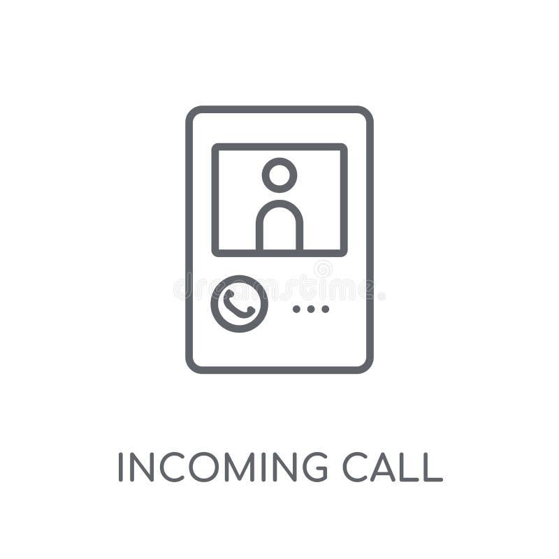 Icône linéaire d'appel d'arrivée Escroquerie moderne de logo d'appel d'arrivée d'ensemble illustration libre de droits
