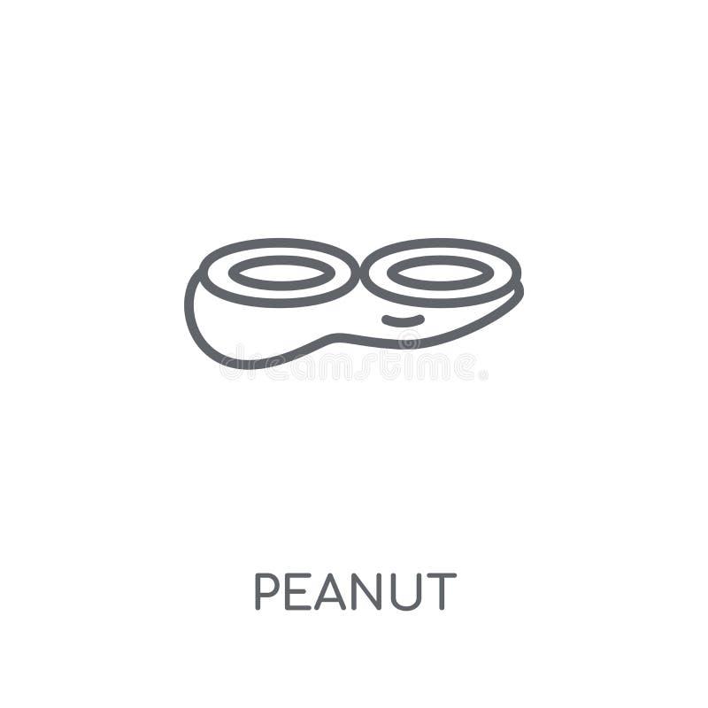 Icône linéaire d'arachide Concept moderne de logo d'arachide d'ensemble sur le blanc illustration libre de droits