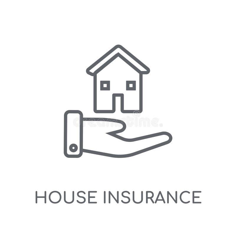 Icône linéaire d'assurance de Chambre Logo moderne d'assurance de Chambre d'ensemble illustration libre de droits