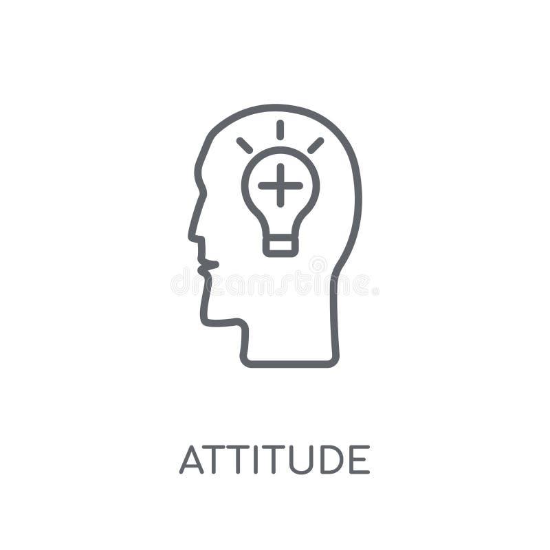 Icône linéaire d'attitude Concept moderne de logo d'attitude d'ensemble sur le wh illustration stock