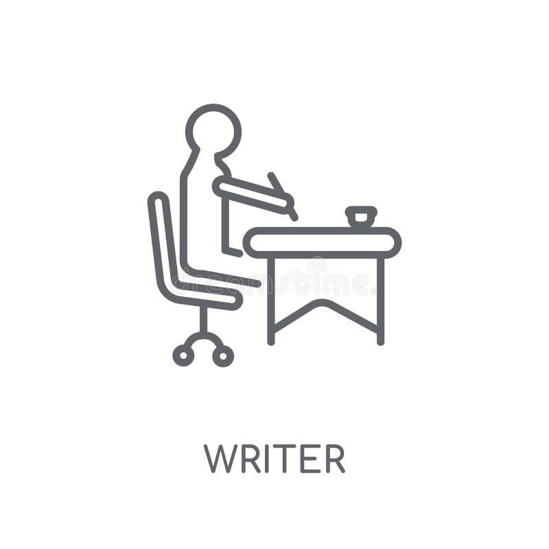 Icône linéaire d'auteur Concept moderne de logo d'auteur d'ensemble sur le blanc illustration stock