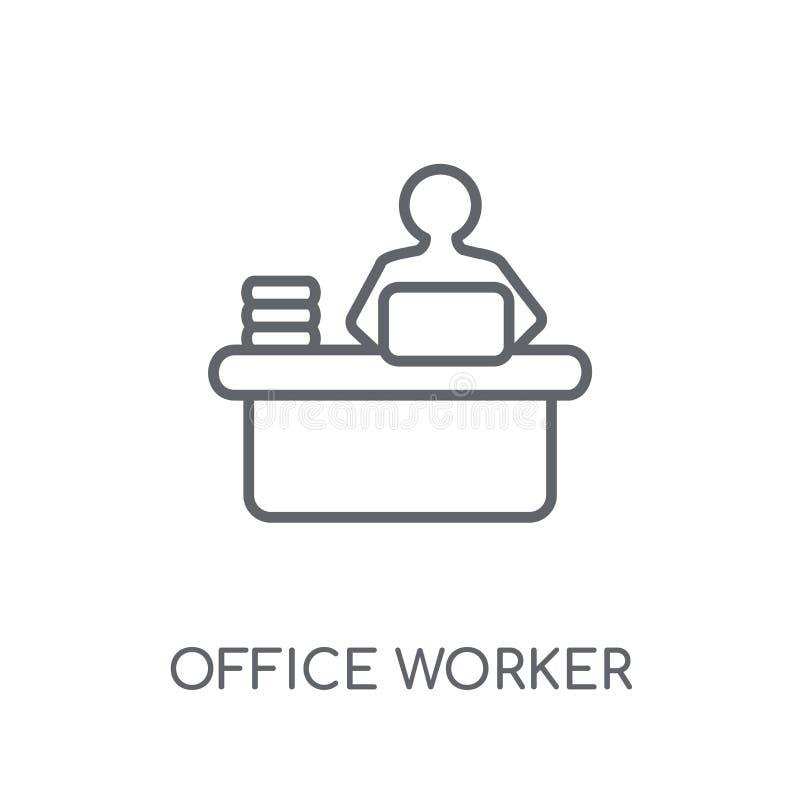 Icône linéaire d'employé de bureau Escroquerie moderne de logo d'employé de bureau d'ensemble illustration libre de droits
