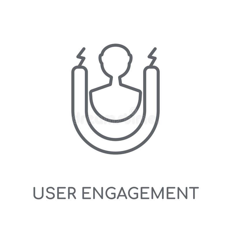 icône linéaire d'engagement d'utilisateur Logo moderne d'engagement d'utilisateur d'ensemble illustration libre de droits