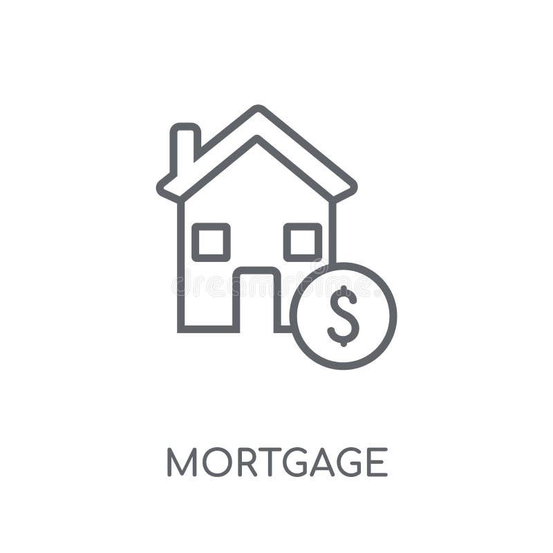 Icône linéaire d'hypothèque Concept moderne de logo d'hypothèque d'ensemble sur le wh illustration libre de droits