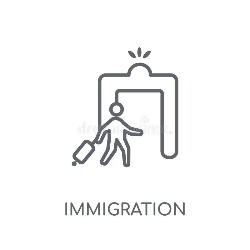icône linéaire d'immigration Concept moderne de logo d'immigration d'ensemble illustration de vecteur
