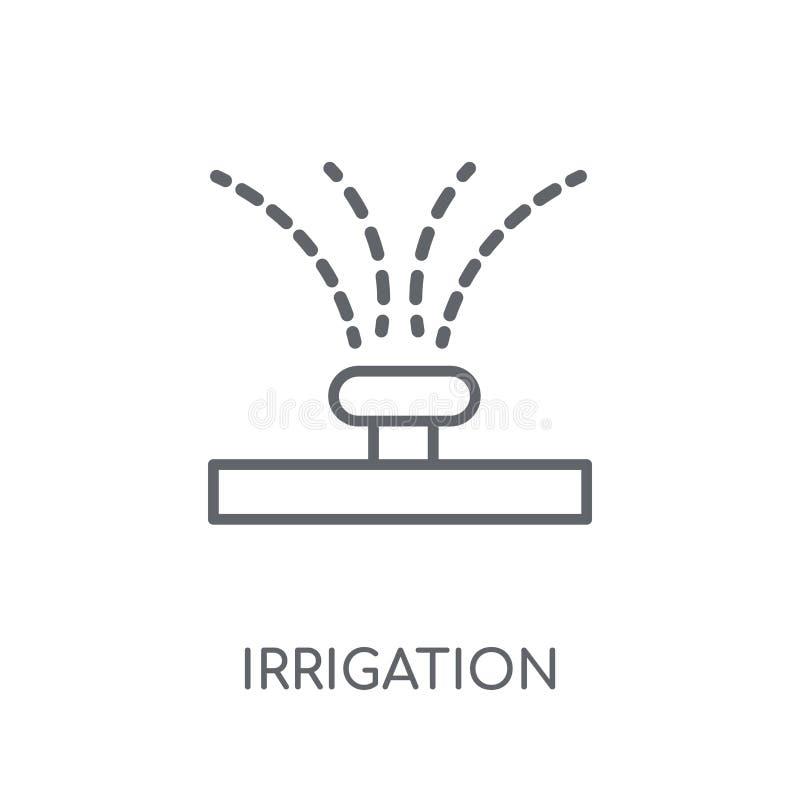 Icône linéaire d'irrigation Concept moderne o de logo d'irrigation d'ensemble illustration stock