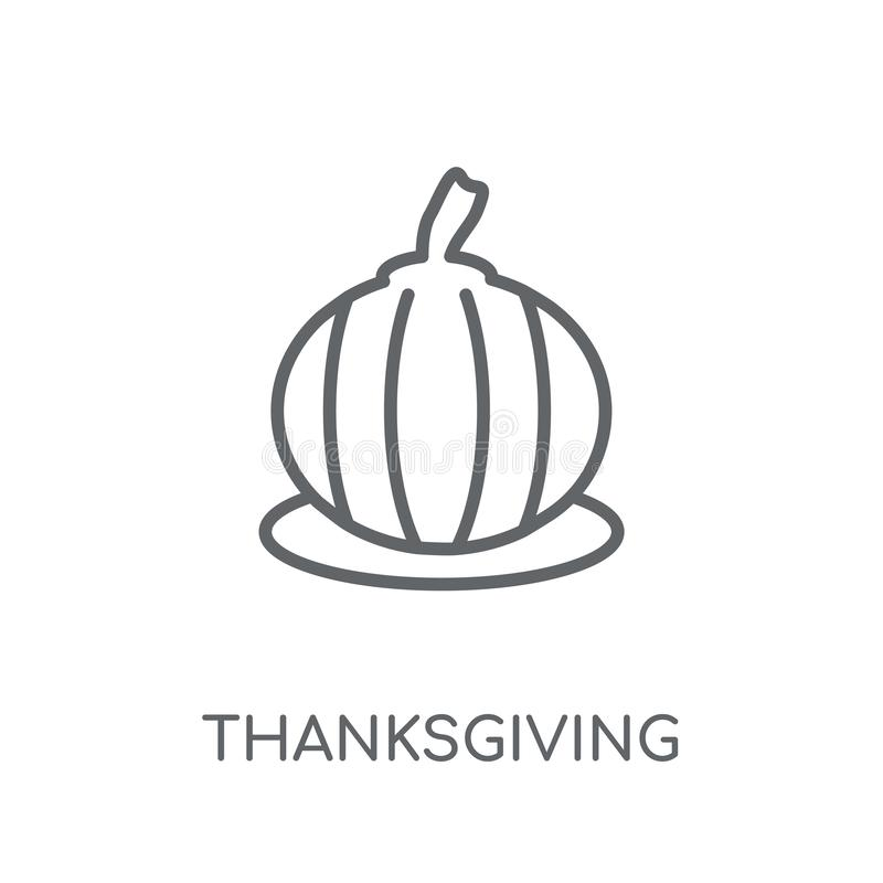Icône linéaire d'ornement de thanksgiving Thanksgiving moderne o d'ensemble illustration stock