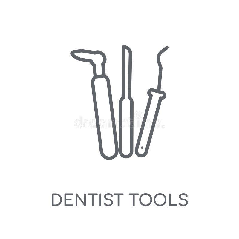 Icône linéaire d'outils de dentiste Escroquerie moderne de logo d'outils de dentiste d'ensemble illustration libre de droits