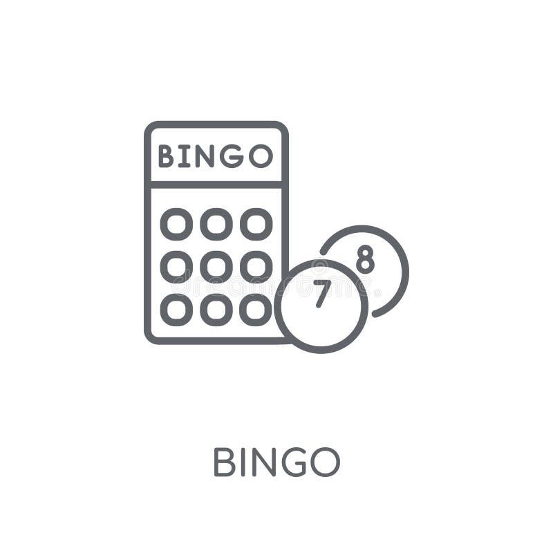 Icône linéaire de bingo-test Concept moderne de logo de bingo-test d'ensemble sur le Ba blanc illustration de vecteur