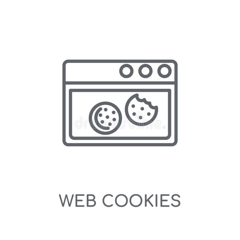 icône linéaire de biscuits de Web Concept moderne de logo de biscuits de Web d'ensemble illustration de vecteur