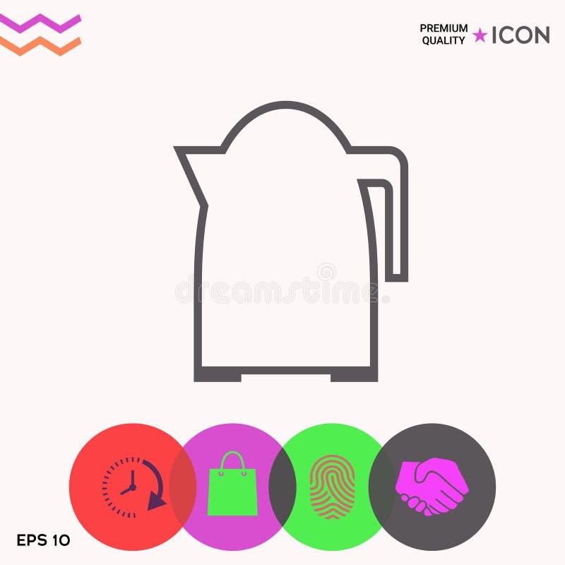Icône linéaire de bouilloire de cuisine illustration de vecteur