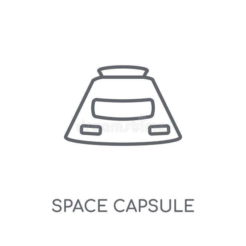 Icône linéaire de capsule d'espace Escroquerie moderne de logo de capsule d'espace d'ensemble illustration libre de droits