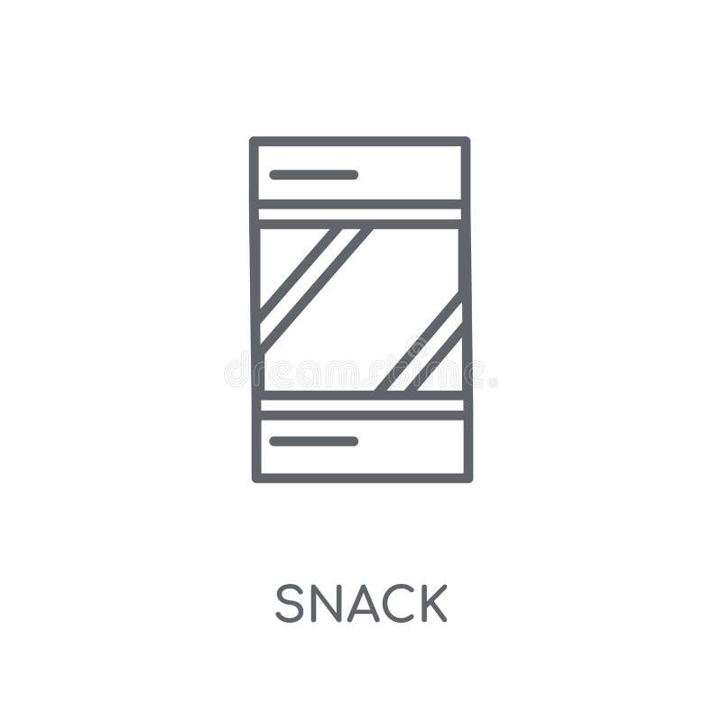Icône linéaire de casse-croûte Concept moderne de logo de casse-croûte d'ensemble sur le Ba blanc illustration de vecteur