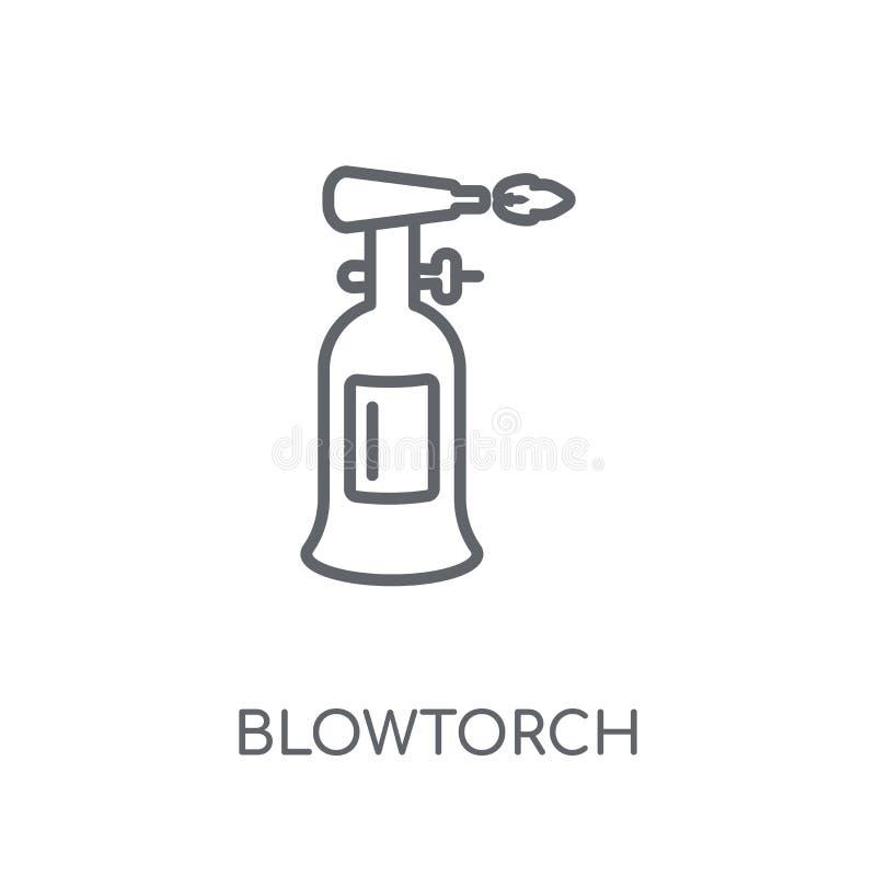 icône linéaire de chalumeau Concept moderne de logo de chalumeau d'ensemble dessus illustration stock