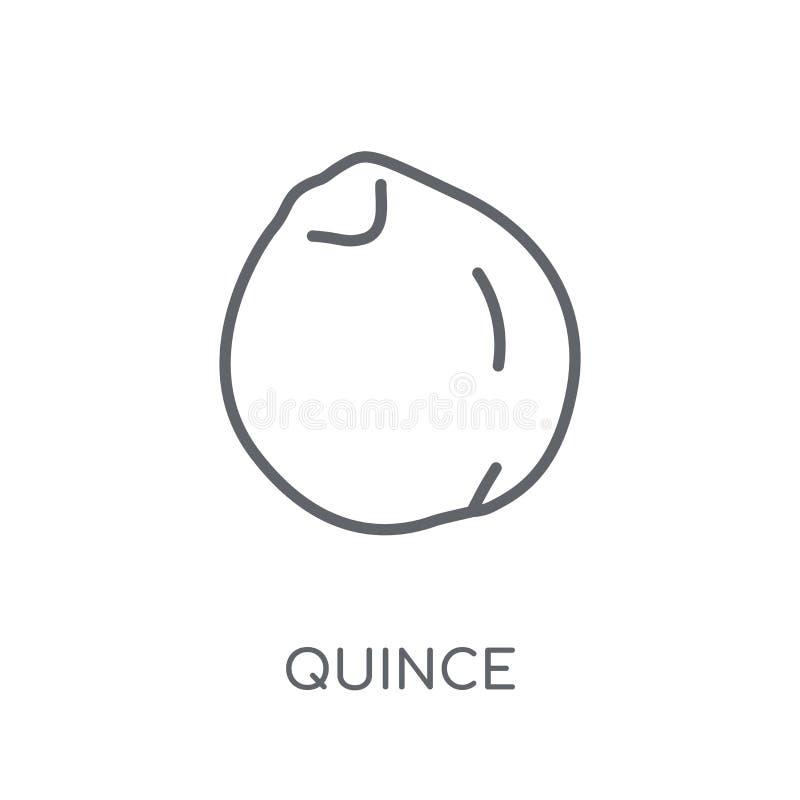 icône linéaire de coing Concept moderne de logo de coing d'ensemble sur le blanc illustration stock