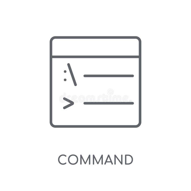 Icône linéaire de commande Concept moderne de logo de commande d'ensemble sur le petit morceau illustration libre de droits