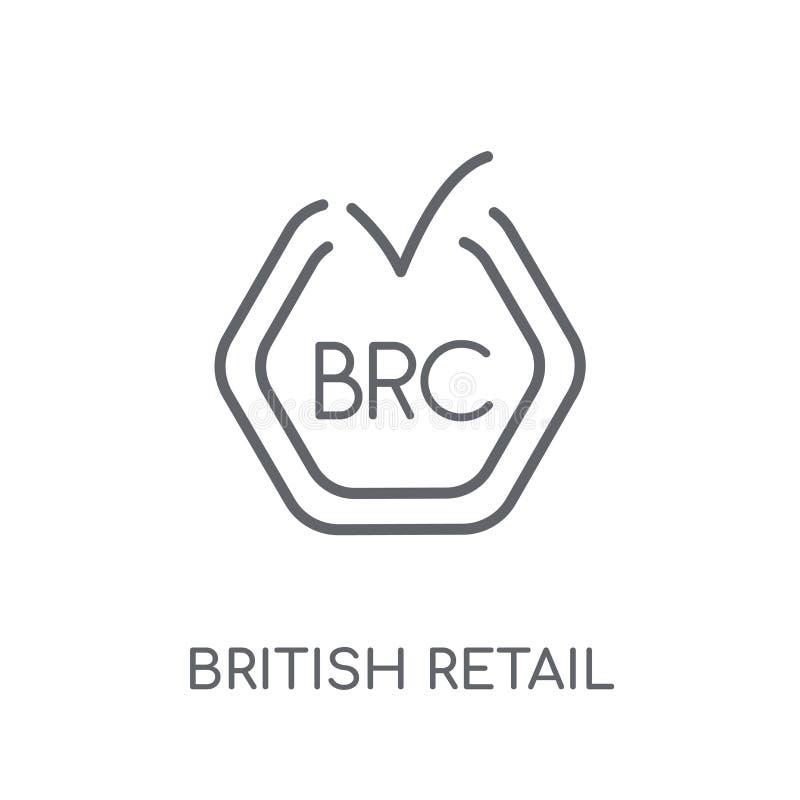 Icône linéaire de consortium au détail britannique Re britannique d'ensemble moderne illustration stock