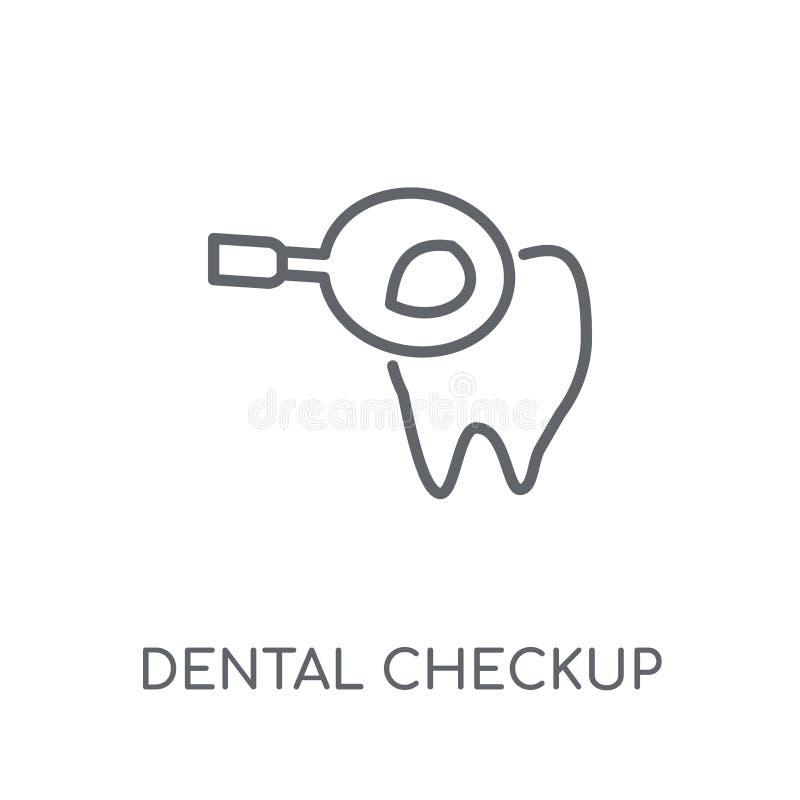 Icône linéaire de contrôle dentaire Logo dentaire c de contrôle d'ensemble moderne illustration libre de droits