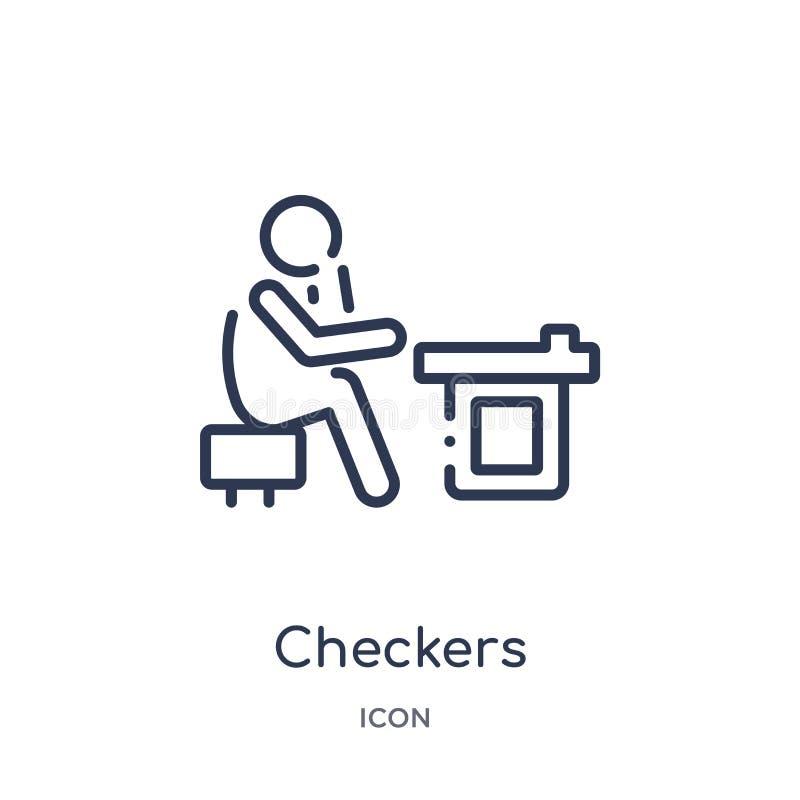 Icône linéaire de contrôleurs d'activité et de collection d'ensemble de passe-temps La ligne mince contrôleurs dirigent d'isoleme illustration de vecteur
