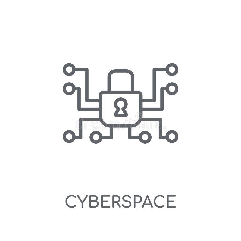 Icône linéaire de cyberespace Concept moderne o de logo de cyberespace d'ensemble illustration de vecteur