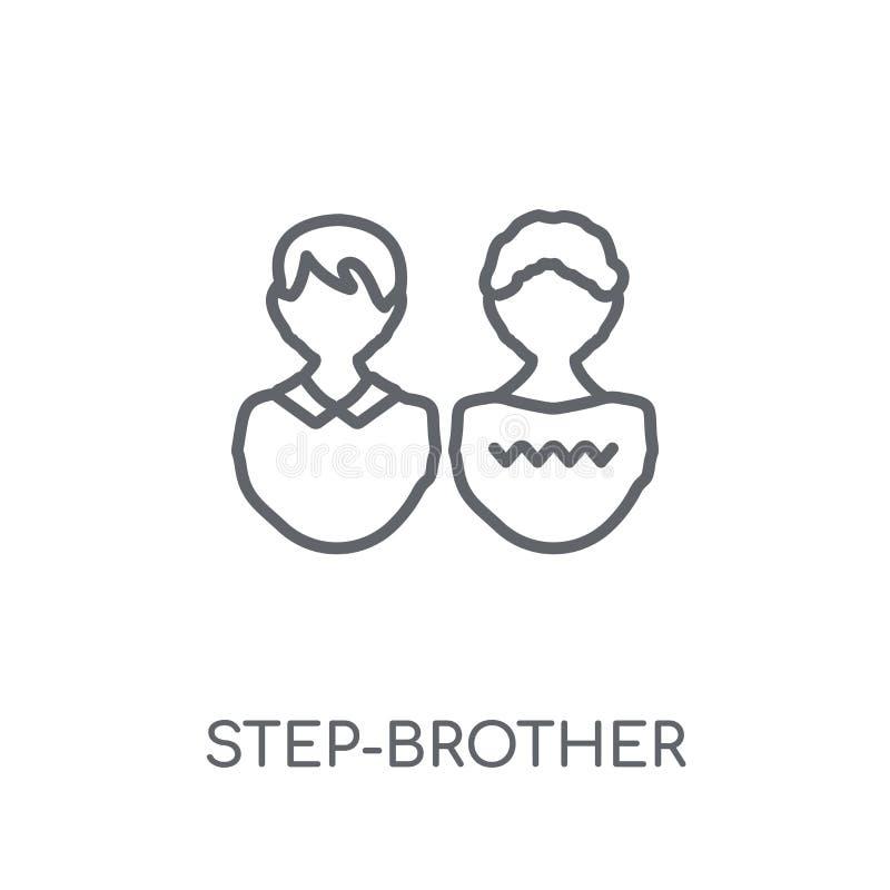 icône linéaire de demi-frère Conce moderne de logo de demi-frère d'ensemble illustration de vecteur