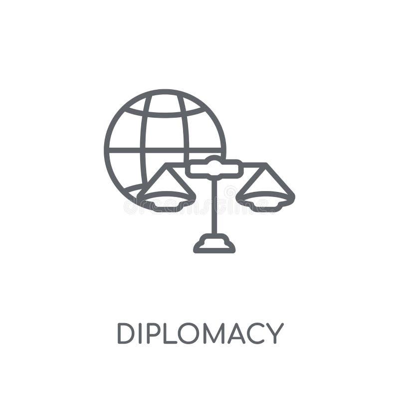 icône linéaire de diplomatie Concept moderne de logo de diplomatie d'ensemble dessus illustration de vecteur