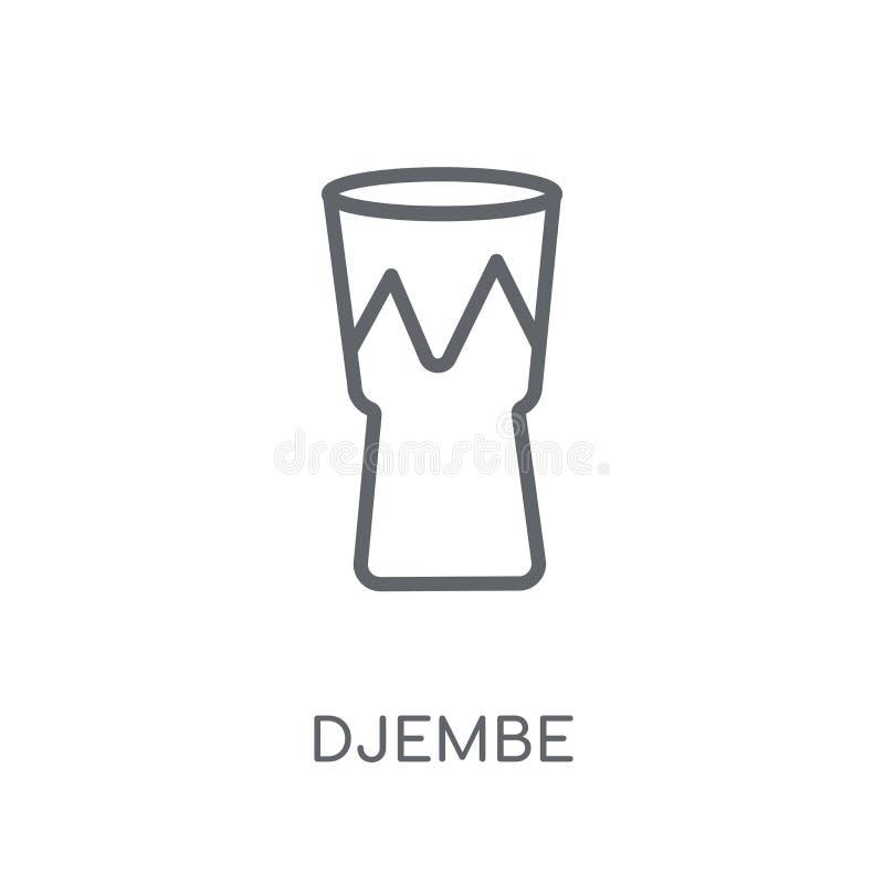 Icône linéaire de Djembe Concept moderne de logo de Djembe d'ensemble sur le blanc illustration stock