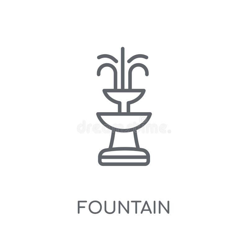 Icône linéaire de fontaine Concept moderne de logo de fontaine d'ensemble sur le wh illustration libre de droits
