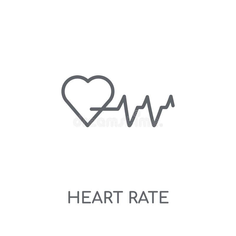 Icône linéaire de fréquence cardiaque Concept moderne o de logo de fréquence cardiaque d'ensemble illustration de vecteur