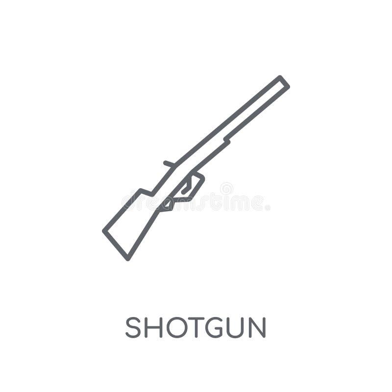 Icône linéaire de fusil de chasse Concept moderne de logo de fusil de chasse d'ensemble sur le petit morceau illustration libre de droits
