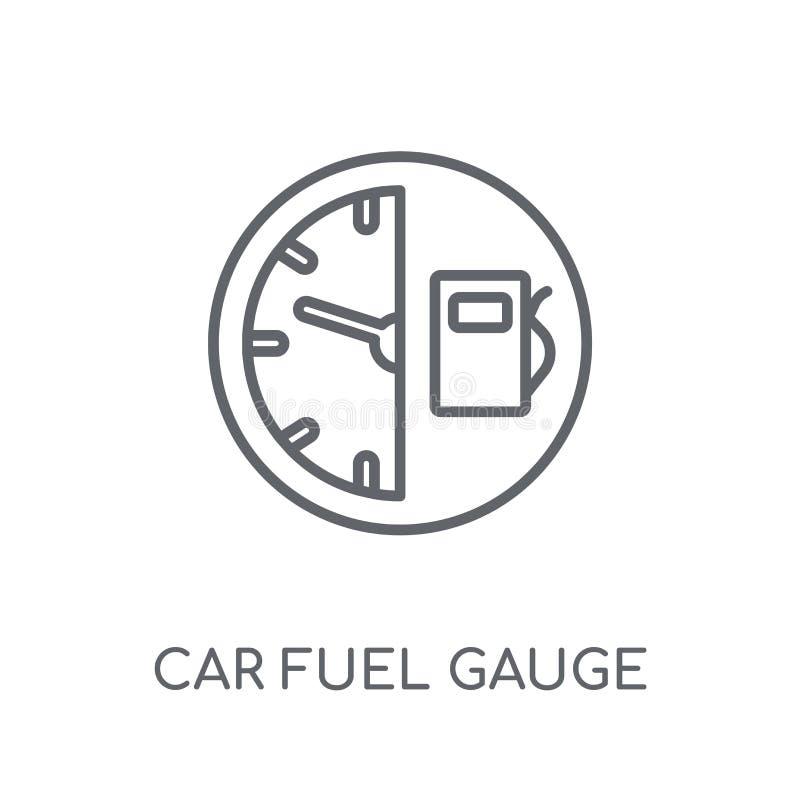 icône linéaire de jauge de carburant de voiture Logo moderne c de jauge de carburant de voiture d'ensemble illustration de vecteur