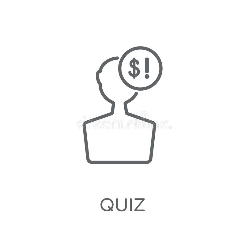 icône linéaire de jeu-concours Concept moderne de logo de jeu-concours d'ensemble sur le dos blanc illustration de vecteur