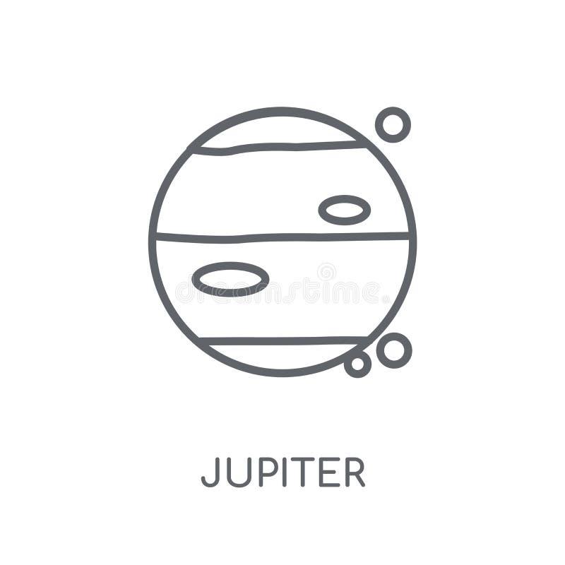 Icône linéaire de Jupiter Concept moderne de logo de Jupiter d'ensemble sur le petit morceau illustration libre de droits