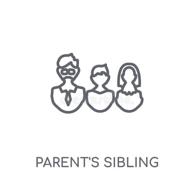 icône linéaire de l'enfant de mêmes parents du parent Lo de l'enfant de mêmes parents du parent moderne d'ensemble illustration de vecteur