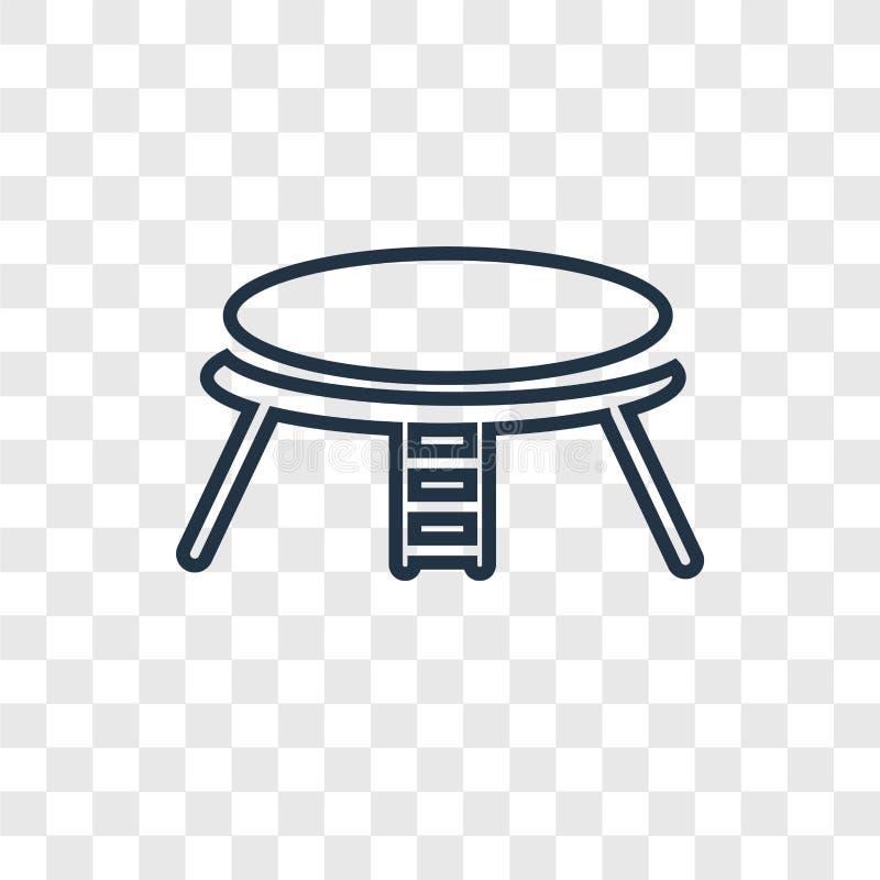 Icône linéaire de lit de vecteur élastique de concept sur b transparent illustration stock