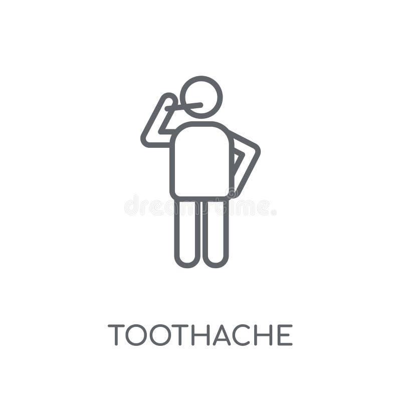 Icône linéaire de mal de dents Concept moderne de logo de mal de dents d'ensemble dessus illustration de vecteur