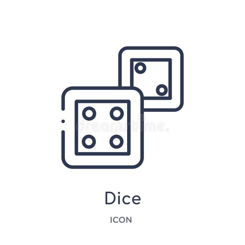 Icône linéaire de matrices de divertissement et de collection d'ensemble d'arcade Ligne mince vecteur de matrices d'isolement sur illustration libre de droits