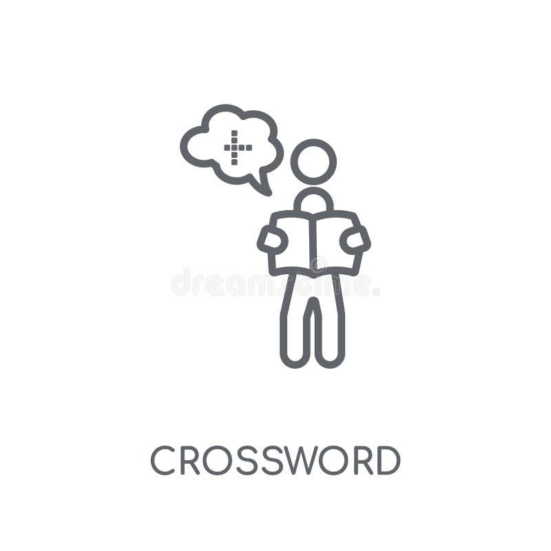 Icône linéaire de mots croisé Concept moderne de logo de mots croisé d'ensemble dessus illustration de vecteur