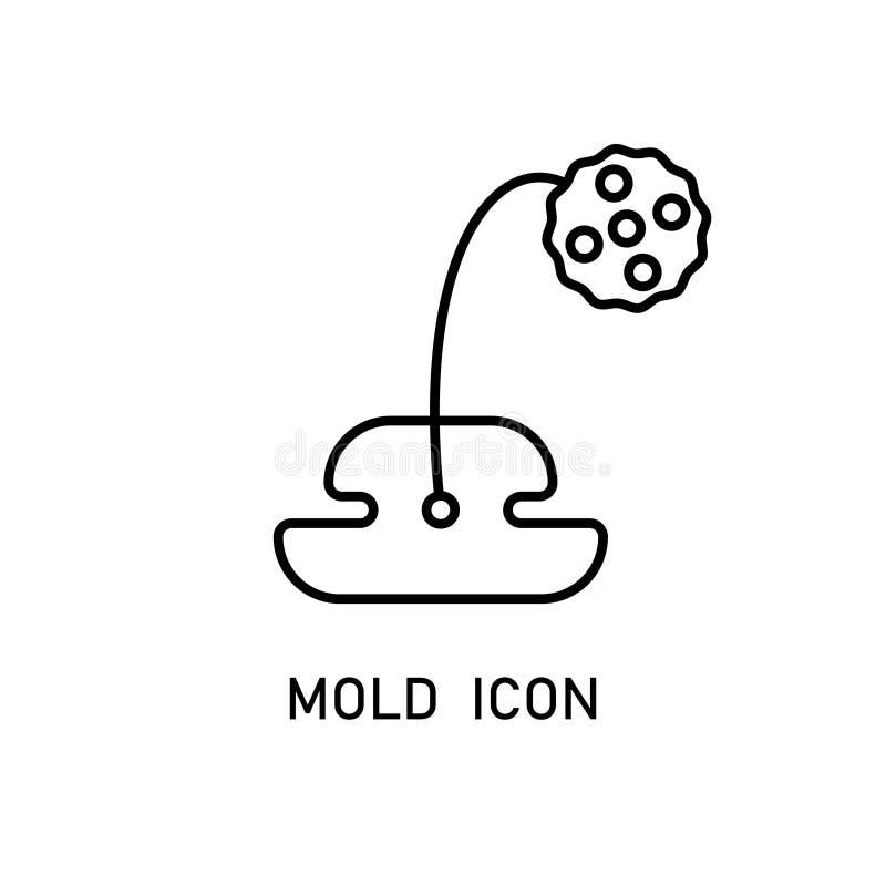 Icône linéaire de moule illustration de vecteur